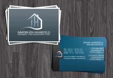Immobilien-Hahnefeld Visitenkarte by Grafikhahn