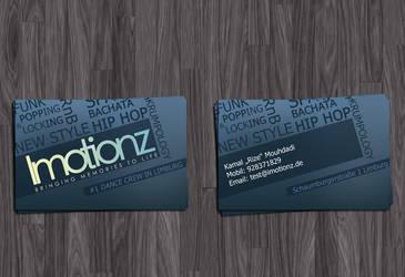 Imotionz Businesscard by Grafikhahn