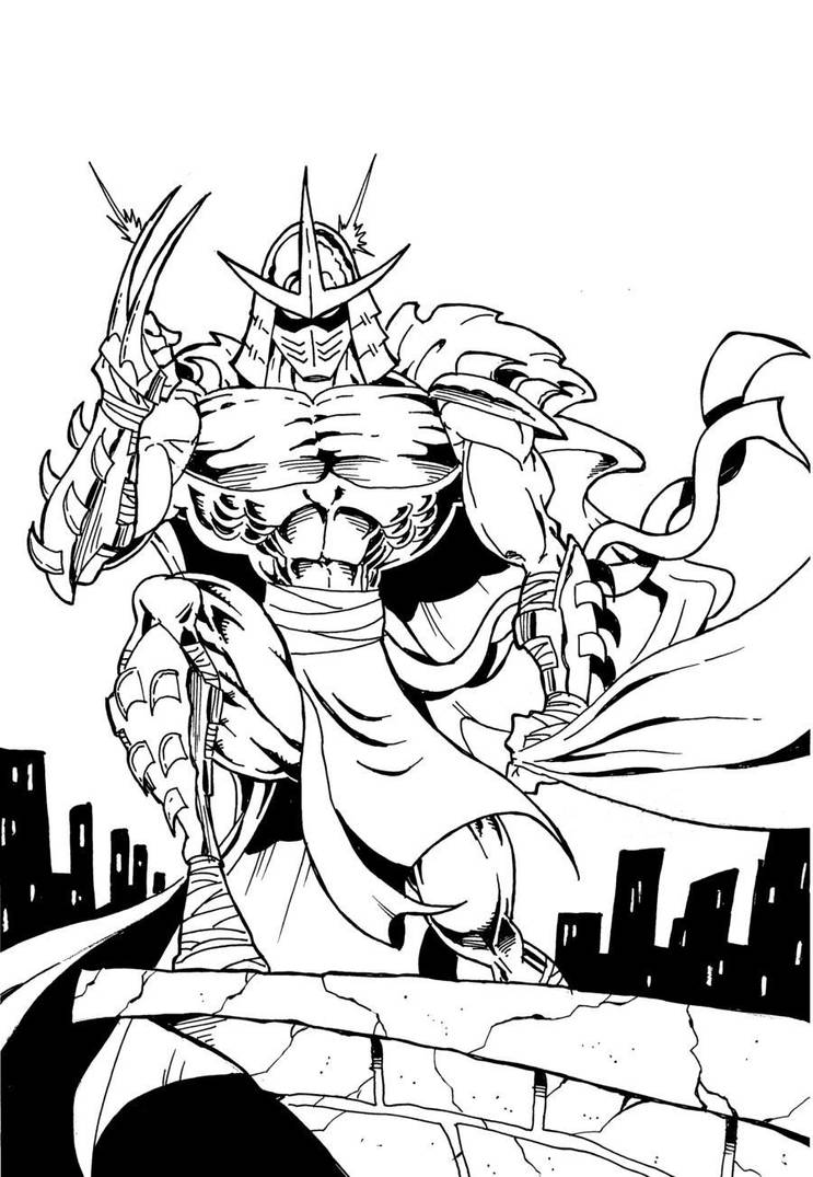 tmnt coloring pages shredder machine-#3