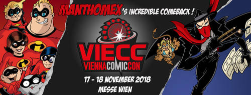 MANTHOMEX - VIECC, VIENNA COMIC CON 2018 by Manthomex