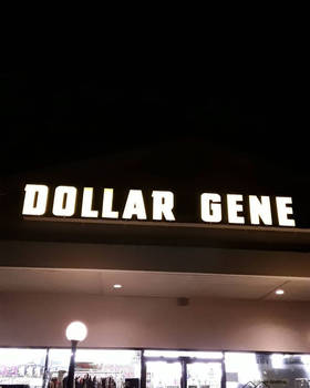 Funny Dollar General Burnt Out Sign by HaveFaithHopeLoveArt