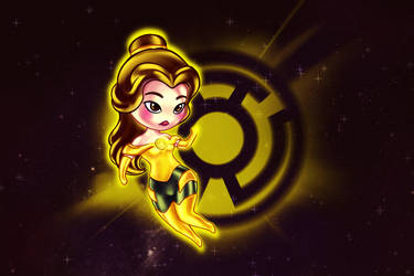 Belle Yellow Lantern by REPLOID