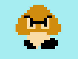8bit Goomba by insane4hatenafrogs