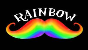 Rainbow Mustache Logo by SybilThorn
