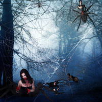 Lair of the Spider-Ladies by SybilThorn