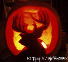 .: Steves Deer Pumpkin 09 :. by SirNeo9805