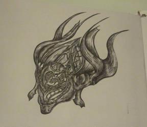 Halo - Custom Brute Chieftain Helmet by The-Revered-Dragon