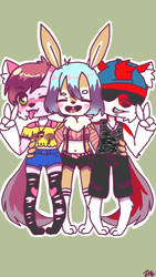 A Great Group of Friends (Art by CatChat1997) by LeScarletSinger