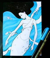 Inktober Underwater by Juhani