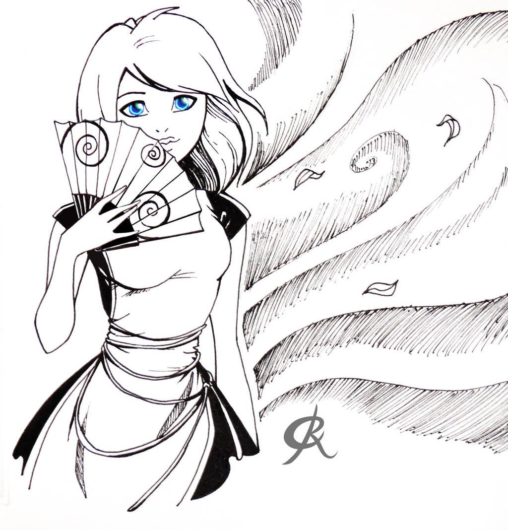 Inktober Maid by Juhani