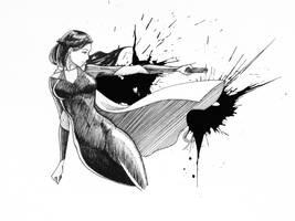 Super hero girl by Juhani