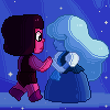 Pixel Art - The Answer / Sapphire and Ruby by MinEevee