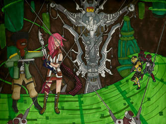 FFXIII - Sazh and Lightning by RomanTiles