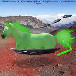 Alien horse avatar by kirraleestudfarmHEE