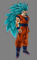 Goku Super Saiyan Blue 3 by hsvhrt