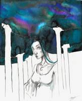 Nebula pillars by Shaya-Fury