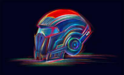 COMMISSION - Commander Sheps helmet by Shaya-Fury