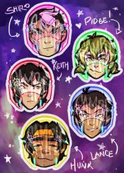 .voltron stickers. by SteamDog