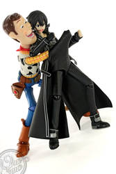 Kirito Meets Woody by theonecam