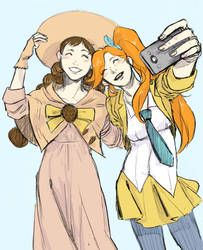 Ace Attorney 5 - Athena and Juniper by Maliris-San