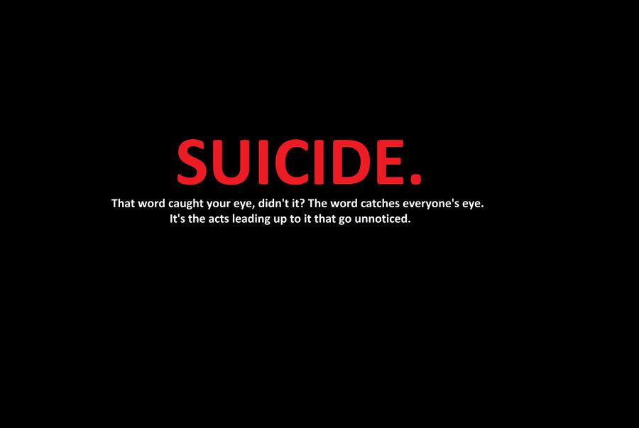 SUICIDE. by ChloeRhiannonX