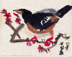 Painting of a Bird by MapleRose