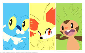 Gen 6 starters wallpaper by MapleRose
