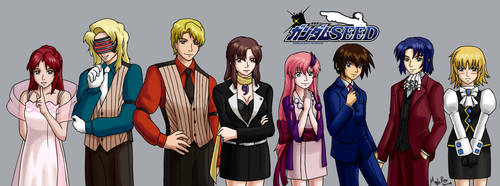 Gundam Seed x Gyakuten Saiban (Ace Attorney) by MapleRose