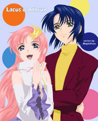 Lacus and Athrun by MapleRose