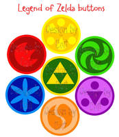 Buttons: Zelda set 1 by Colt-kun