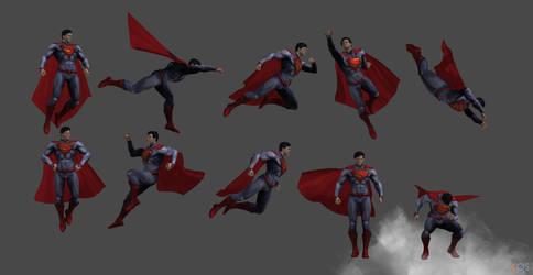 Superman Injustice poses by Gizmochillin