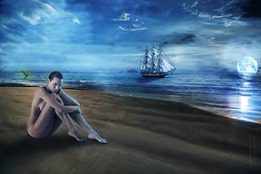Girl and Sea by emilheshimli