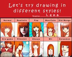 Pixiv Style Meme: Lena by Asuriu