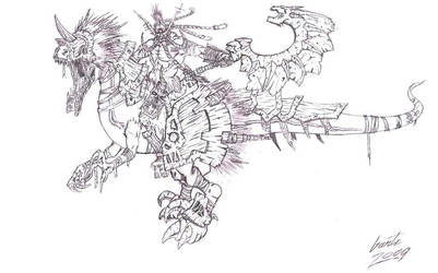 Troll Warlord + Raptor Jesus by Greyall