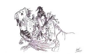 Skeletal Gryphon by Greyall