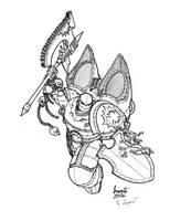 World Eaters - Assault Marine by Greyall