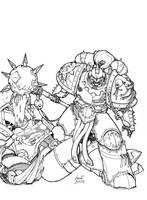 Horus Heresy - World Eaters Chaplain by Greyall