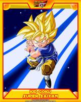 DBGT-Kid Goku SSJ V2 by el-maky-z