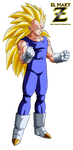 Vegeta Super Saiyan 3 by el-maky-z