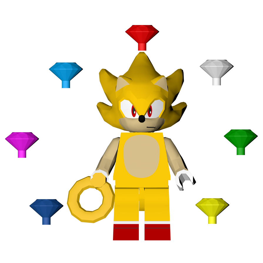 Sonic The Hedgehog Level Pack: Lego Super Sonic By