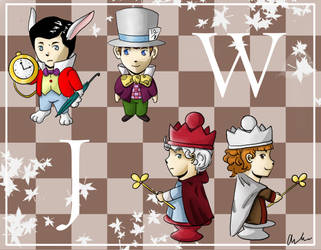 Jeeves in Wonderland x-over by CCezi
