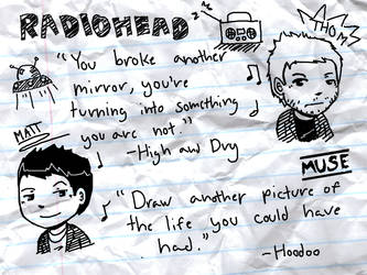 Radiohead+Muse wallpaper by CCezi