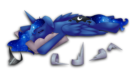 Tired Luna is Tired by Nalenthi