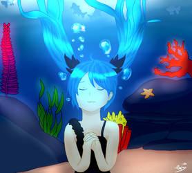 [DA]-Deep Sea Girl- Hatsune Miku by DisappointmentRao
