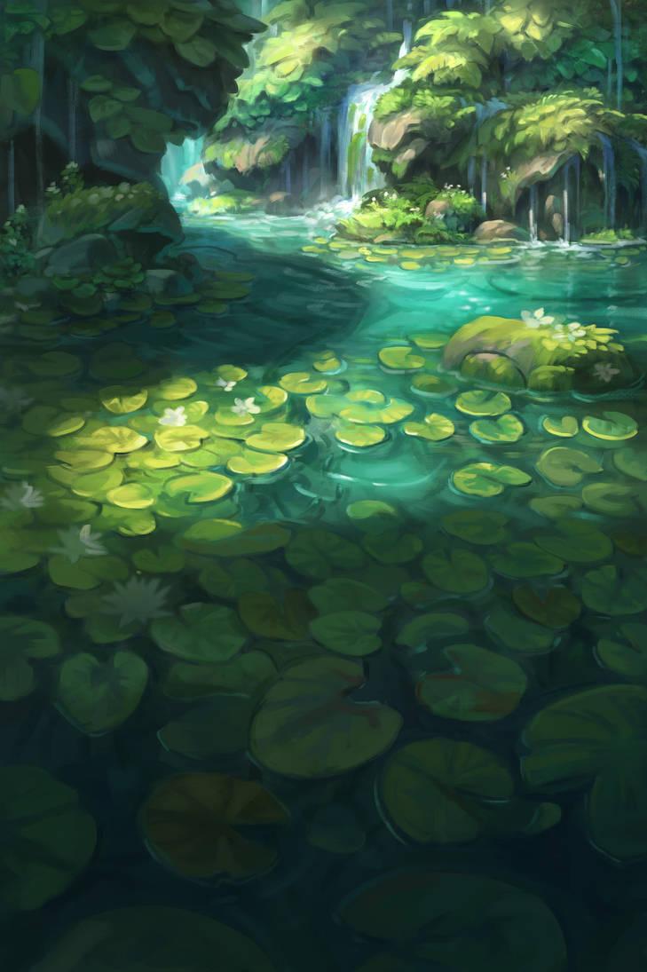 Sunken Garden by Paperheadman