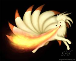 Ninetales - Flamethrower by RiceGnat