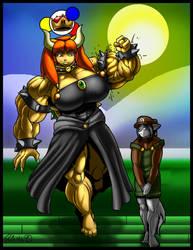 Rei Orokini as Bowsette by DocWolph