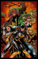 Birds of prey cover 4 colors by LTartist