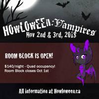 Howl 2018: Hotel Room Block Open by HowloweenCanada