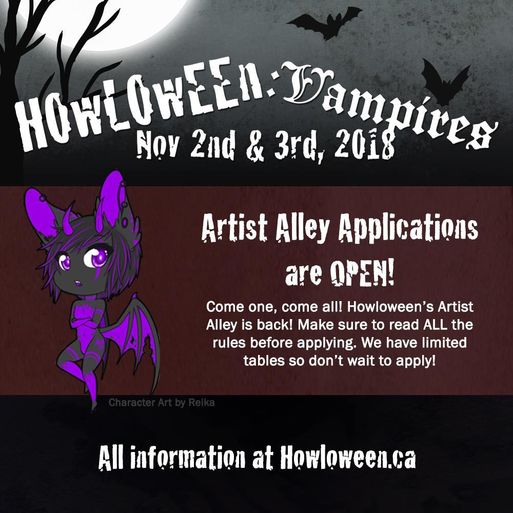 Howl 2018 - Artist Alley Application Open! by HowloweenCanada